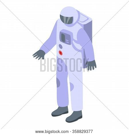 Astronaut Icon. Isometric Of Astronaut Vector Icon For Web Design Isolated On White Background
