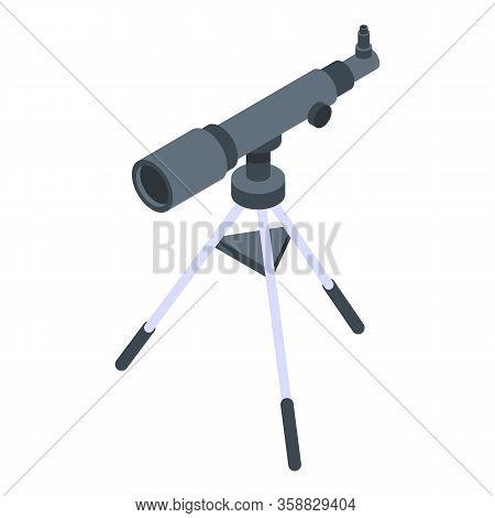 Telescope Icon. Isometric Of Telescope Vector Icon For Web Design Isolated On White Background