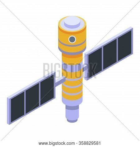 Orbital Station Icon. Isometric Of Orbital Station Vector Icon For Web Design Isolated On White Back