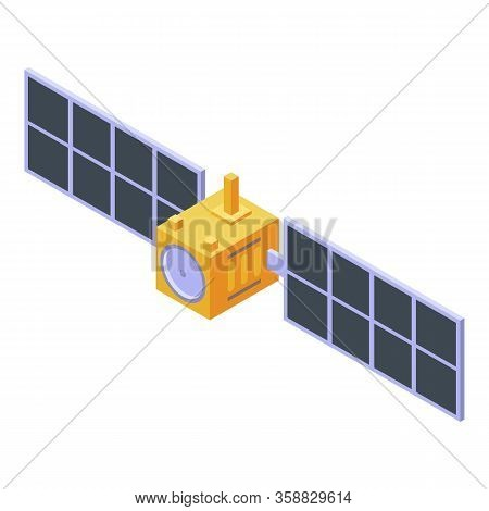 Orbital Satellite Icon. Isometric Of Orbital Satellite Vector Icon For Web Design Isolated On White