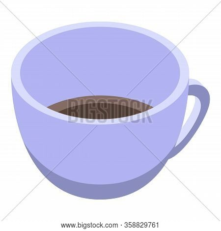 Fortune Teller Coffee Cup Icon. Isometric Of Fortune Teller Coffee Cup Vector Icon For Web Design Is