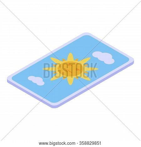 Fortune Teller Card Icon. Isometric Of Fortune Teller Card Vector Icon For Web Design Isolated On Wh