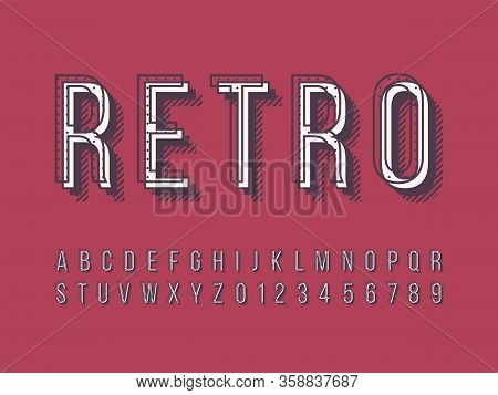 Stylish Trendy Logotype Retro Bar. 3D Colorful Font