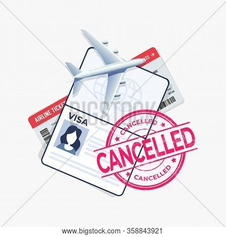 The Flight Is Cancelled With The Passport And Travel Ticket.