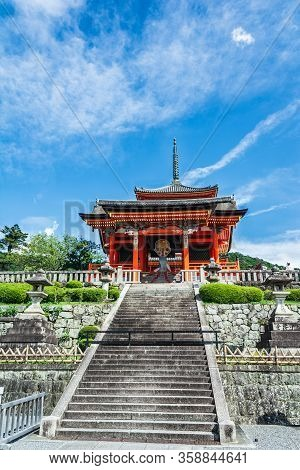 Kyoto, Japan, Asia - September 5, 2019 : The Stairs Of Kiyomizu Dera Temple In Kyoto
