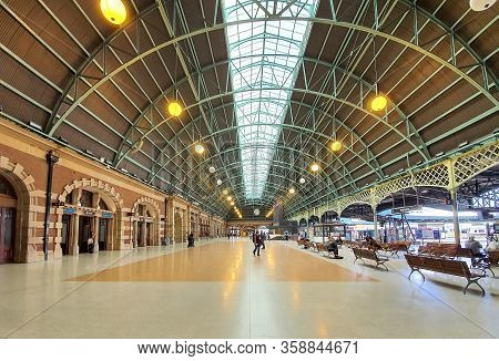 Central Railway Station In Sydney Is Quiet And Empty With People During Covid 19 Lock Down, People S