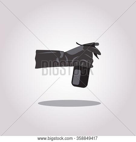 Spraying Anti-bacterial Sanitizer Spray, Hand Sanitizer Dispenser, Infection Control Concept. Saniti