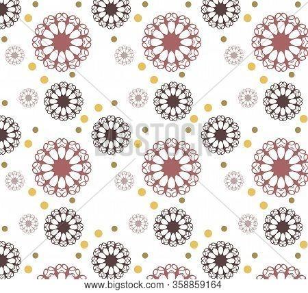 Stylish Oriental Vector Mandala Pattern On Isolated White Background. Mehendi, Mandala, Decorative P