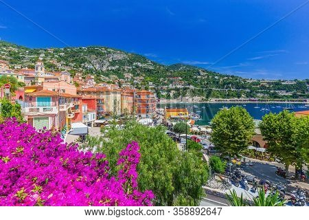 Villefranche Sur Mer, France. Seaside Town On The French Riviera Or Cote D'azur.