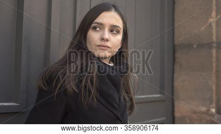 Sad Woman Anxiously Looking Around, Suffering Paranoia, Mental Disorder, Illness