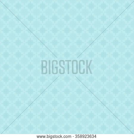 Abstract Geometric Floral Seamless Pattern. Background With Stars, Flower Shapes, Grid. Simple Monoc