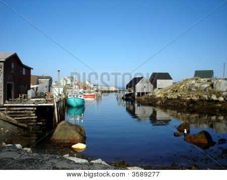 A Beautiful Day In A Quaint Little Harbor