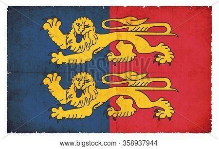 Grunge Flag Manche (france)