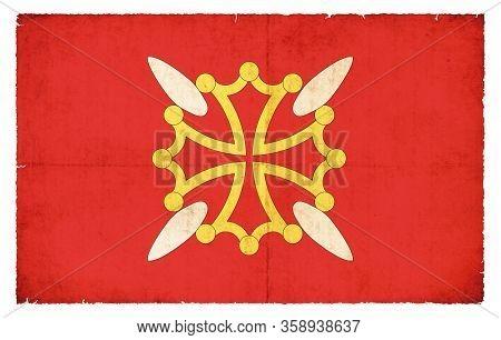 Grunge Flag Haute-garonne (france)