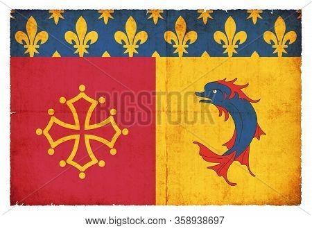 Grunge Flag Hautes-alpes (france)