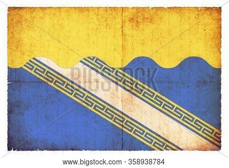 Grunge Flag Aube (france)