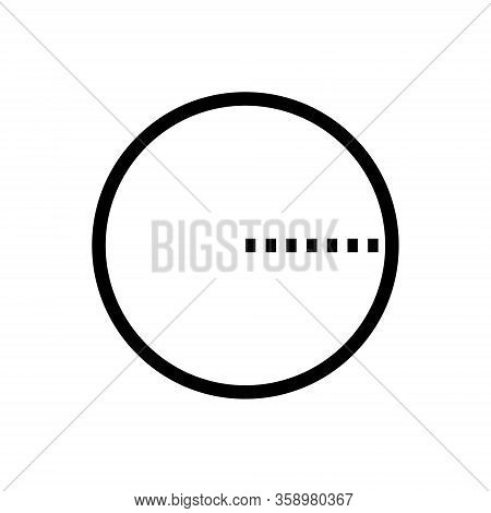 Radius Outline Icon Isolated. Symbol, Logo Illustration For Mobile Concept And Web Design.