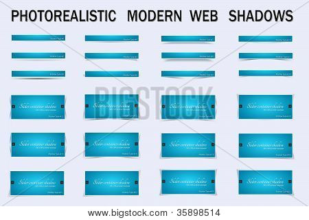 A powerful collection of shadows perfect for boxes images sliders and other web elements poster