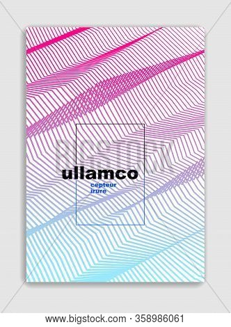 Art Linear Vector Minimalistic Trendy Brochure Design, Cover Template, Geometric Halftone Gradient.