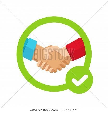 Success Agreement Confirmation Sign With Check Mark Or Approved Trust Partnership Decision Make And