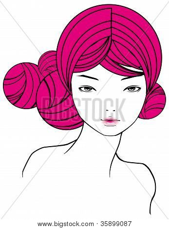 Girl With Pink Hairs