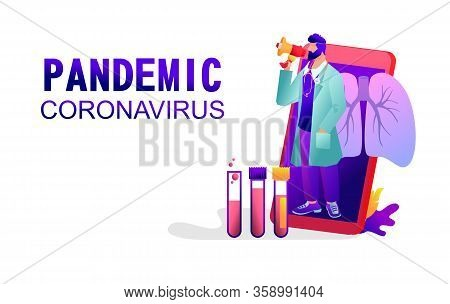 Covid-19 Virus Strain, Doctor, Media, Notifies About The Danger Of Getting Pneumonia, The Landing Pa