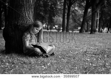 Girl in a park.
