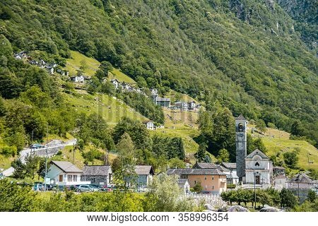 Landscape Panorama Of Romantic Famous Tourist Destination - An Old Swiss Village With Double Arch St