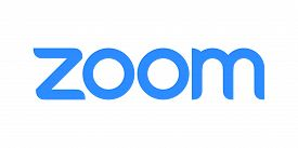Vector Emblem Of Zoom. Isolated Logo Of A Remote Conferencing Services Company.