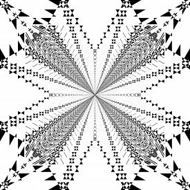 Abstract Arabesque Spider Like Structural Illusion Negative Space  Design Black On Transparent Plaid