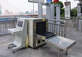Chongqing, China - Sep 2, 2019: Security Checkpoint In China