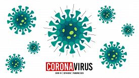 Coronavirus Covid-19 Background. Corona Virus Outbreak. 2019-ncov Pandemic. Stop Coronavirus Disease