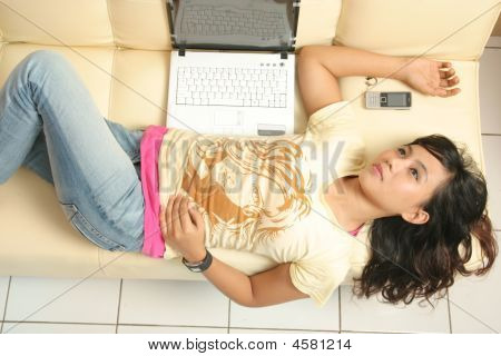 Woman And Technology