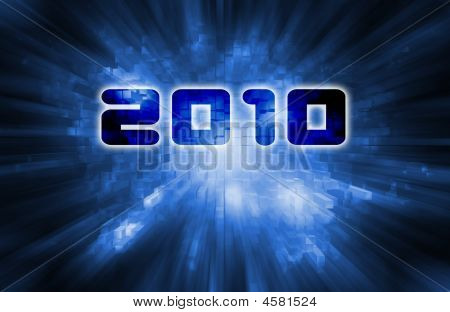 2010 Blue Background
