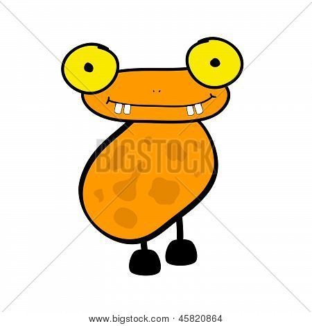 funny adorable animal vector on a color poster
