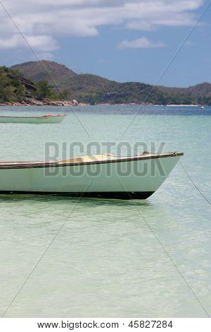 Anse Volbert Beach On Praslin In Seychelles