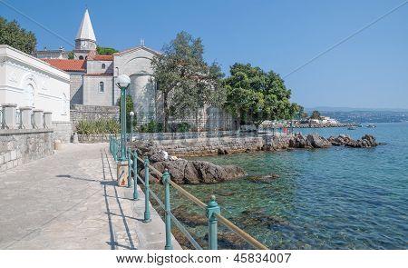 Promenade of Opatija,Croatia