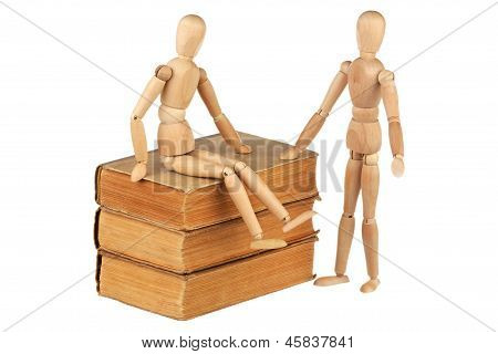 Two Dummy And Old Books