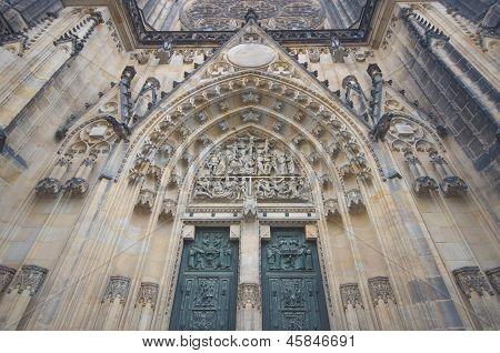 Prague, St. Vitus Cathedral main entrance