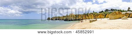 Panoramic view at the beach in Lagos Portugal