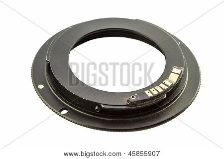 Ring Adapter Mouth For Camera Isolate On White Background