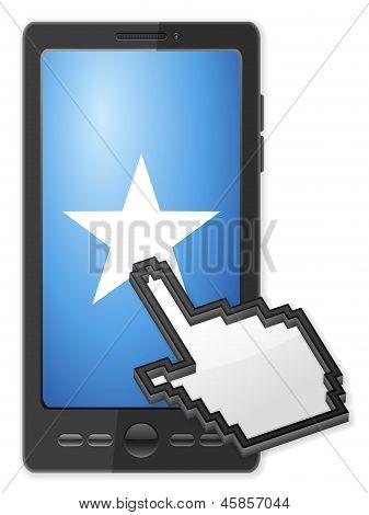 Phone Cursor And Star Symbol