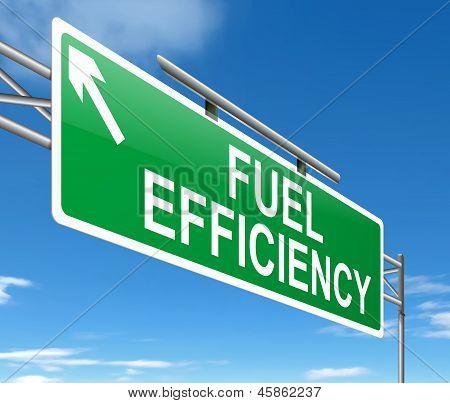 Fuel Efficiency Concept.