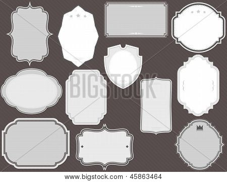 digital frames labels whites