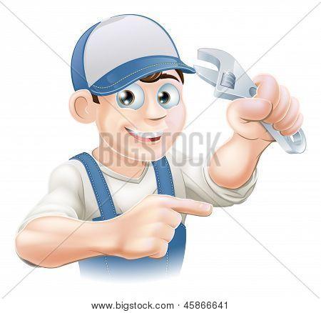 Mechanic Or Plumber Illustration