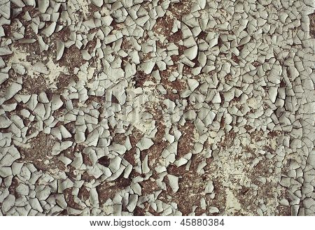 Old Crackled Painted Wood Surface