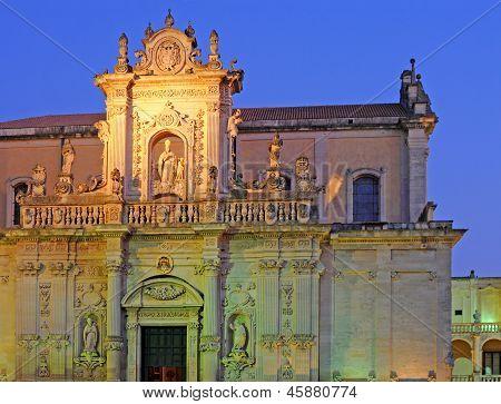 Duomo at night, Lecce