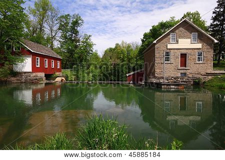 Historical Industrial Complex - Dam, Sawmill And Gristmill.