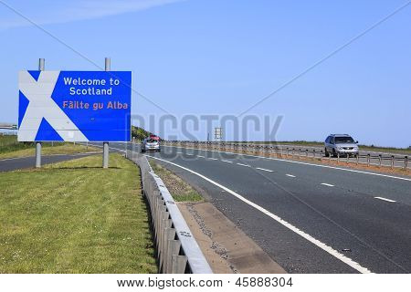 England Scotland Border Crossing