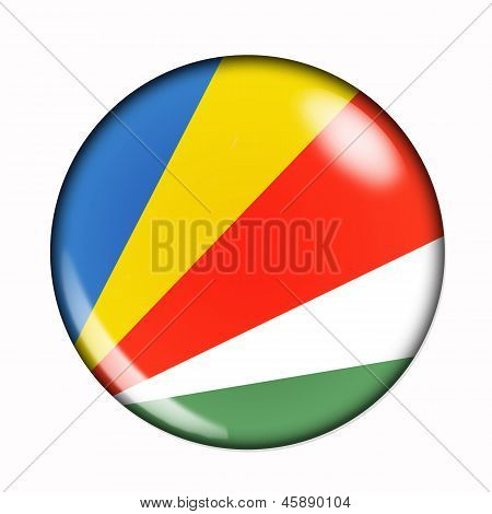 Button Flag Of Seychelles